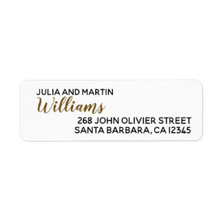 family name . our names with home address return address label