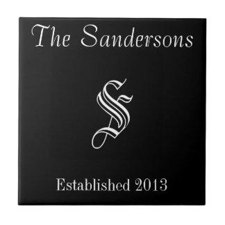 Family Name Sign Tile