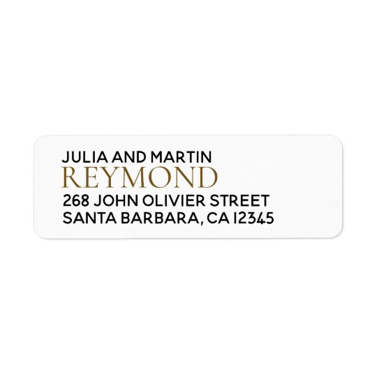 family name / surname with home address return address label