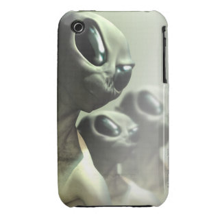 Family of aliens huddled together. iPhone 3 case