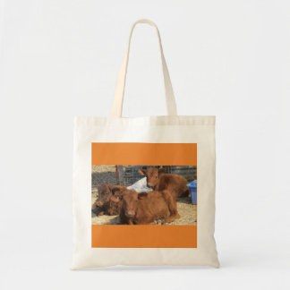 Family of calves tote bag