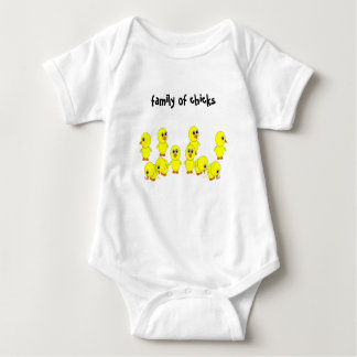 family of chicks baby bodysuit