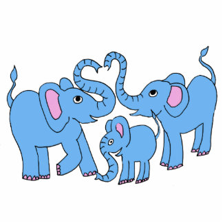 family of elephants magnet cut out