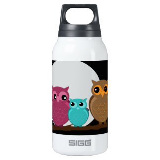 Family of Owls Insulated Water Bottle