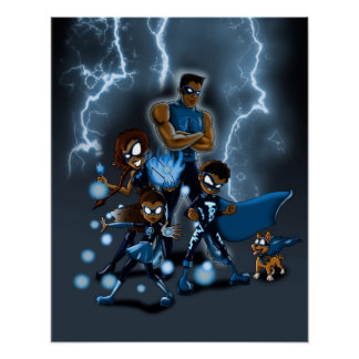 Family of Super Heroes Poster