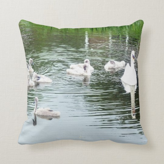 Family Of Swans Cushion