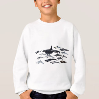 Family of the dolphins: orcas, dolphins, marsopas sweatshirt