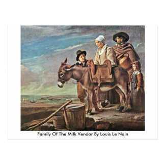 Family Of The Milk Vendor By Louis Le Nain Post Card