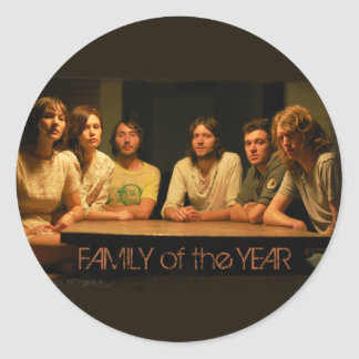 Family of the Year Logo Round Sticker