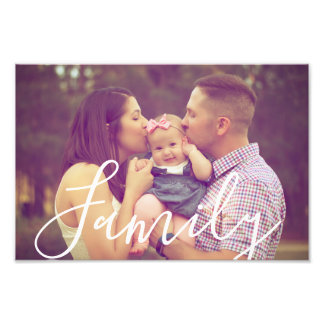Family Photo 12x8 with Editable Text Option