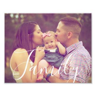Family Photo 8x10 with Editable Text Option