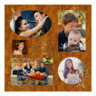 Family Photo Album Collage Poster