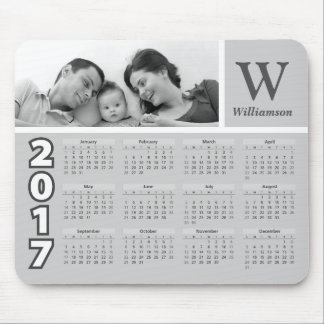 Family Photo | Black and White 2017 Calendar Mouse Pad