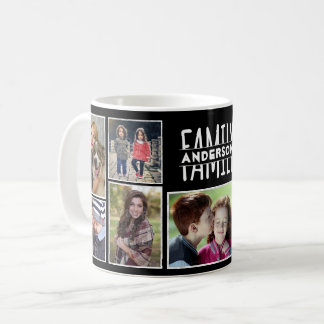 Family Photo Collage 9 Pictures Plus Name Easy DIY Coffee Mug