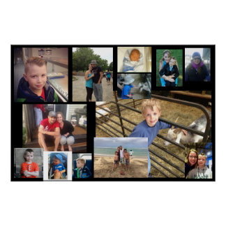 Family Photo Collage Poster