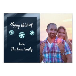 Family Photo Holiday Card - Snowflakes