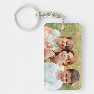 Family Photo Keepsake Key Ring