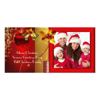 Family Photo Merry Christmas Season Greetings Photo Card
