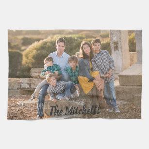 Family Photo Personalise your design Tea Towel