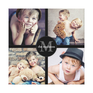 Family Photo Personalized Collage Canvas Print