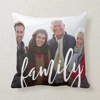 Family Photo Template Throw Pillow
