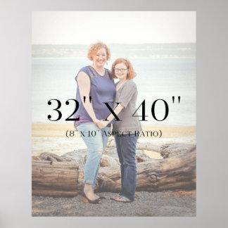 Family Photos 32x40 TEMPLATE Poster
