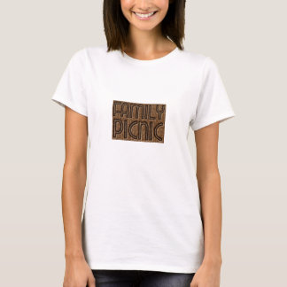 Family Picnic Party Funny Wicker Typography Shirt