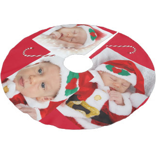Family Pictures and Candy Cane Tree Skirt