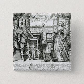 Family Portrait of Charles I 15 Cm Square Badge