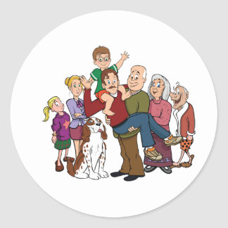 Family Portrait Stickers