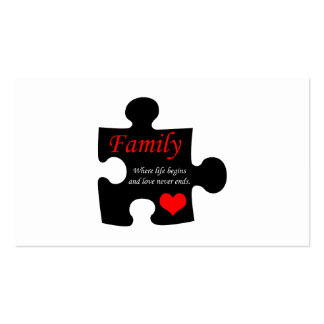 Family Puzzle Business Card Template