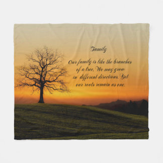 FAMILY QUOTE FLEECE BLANKET