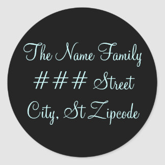 family return address label - personalize info