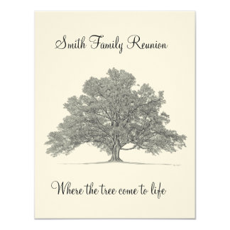 Family Reunion 11 Cm X 14 Cm Invitation Card