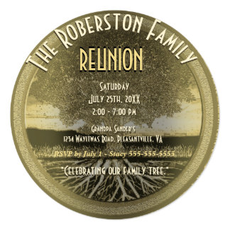 Family Reunion 13 Cm X 13 Cm Square Invitation Card