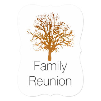 Family Reunion 13 Cm X 18 Cm Invitation Card