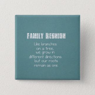 Family Reunion 15 Cm Square Badge