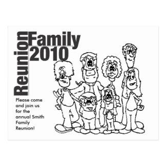 Family Reunion 2010 Coloring Invite Postcard