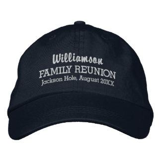 Family Reunion Baseball Cap Custom Location & Date