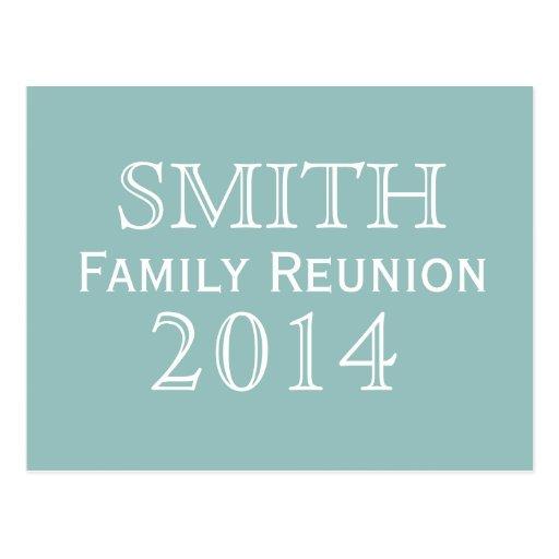 Family Reunion Blue Background Postcards