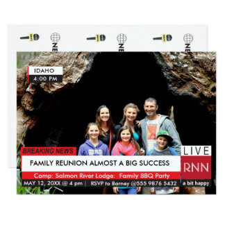 Family Reunion Breaking News Special TV Graphic Card