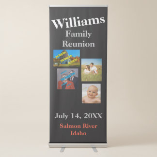Family Reunion Create Your Own Retractable Banner