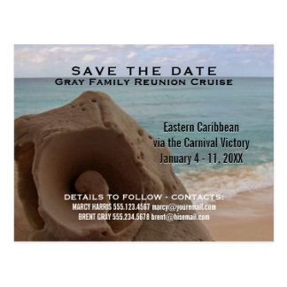 Family Reunion Cruise | Save the Date Beach Postcard