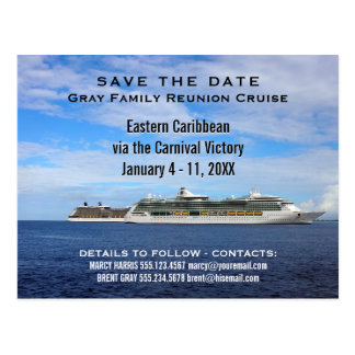 Family Reunion Cruise Ships | Save the Date Ocean Postcard