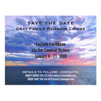 Family Reunion Cruise Vacation | Save the Date Postcard