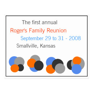 Family Reunion - Customizable Post Card