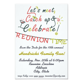 Family Reunion design 9 Cm X 13 Cm Invitation Card