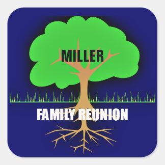 Family Reunion/Family Tree Square Sticker