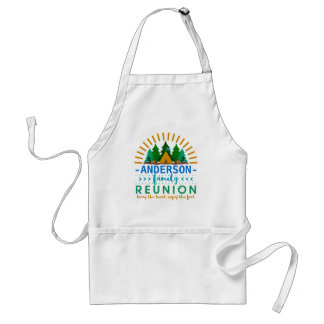 Family Reunion Funny Camping Cookout | Custom Name Standard Apron