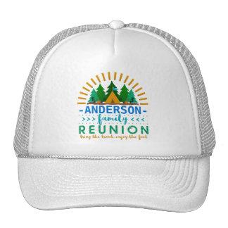 Family Reunion Funny Camping Trip   Custom Name Cap